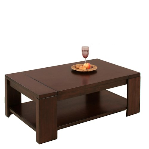 Progressive Furniture Waverly Contemporary Rectangular Cocktail Table
