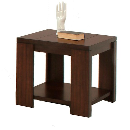 Progressive Furniture Waverly Contemporary Square Lamp Table