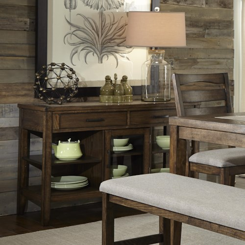 Progressive Furniture Forest Brook Multifunctioning Server with Tapered Legs