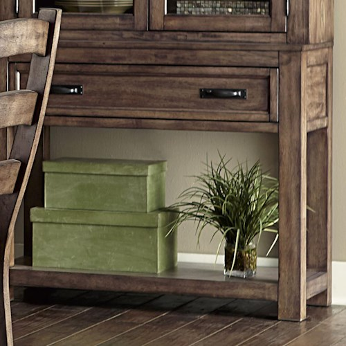 Progressive Furniture Boulder Creek Buffet With Minimally Designed Thick Block Legs