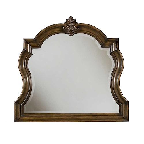 Pulaski Furniture San Mateo Carved Frame Dresser Mirror with Beveled Glass