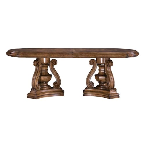 Pulaski Furniture San Mateo Double Pedestal Oval Top Dining Table