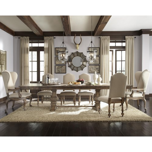 Pulaski Furniture Accentrics Home 7 Piece Desdemona Table with Danae & Amethea Dione Chairs