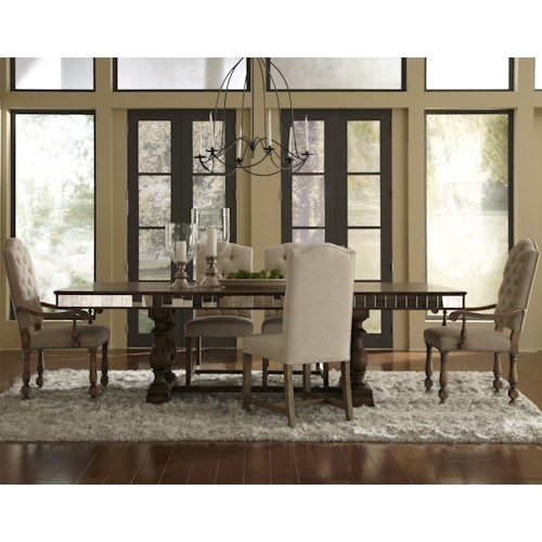 Pulaski Furniture Accentrics Home 6 Piece Alekto Table with Amethea Dione & Zoie Chairs