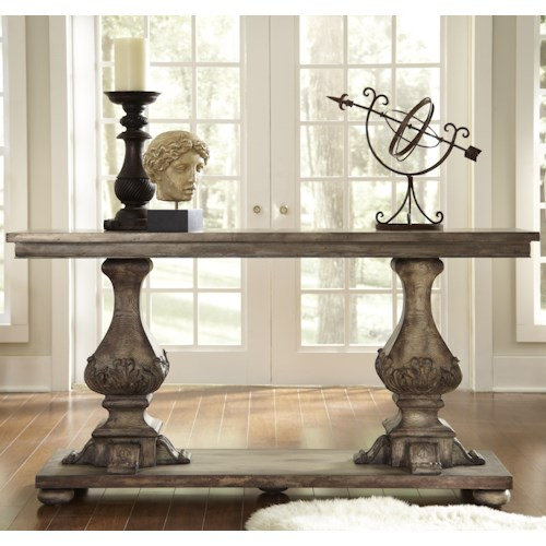 Pulaski Furniture Accentrics Home Athena Sculptural Console with Bun Feet