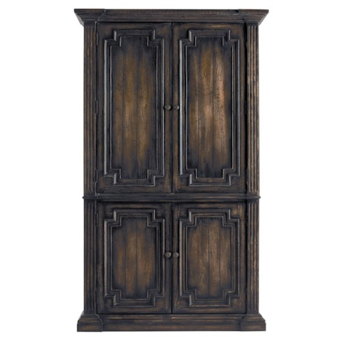 Pulaski Furniture Accentrics Home Capri Armoire w/ Crown Molding