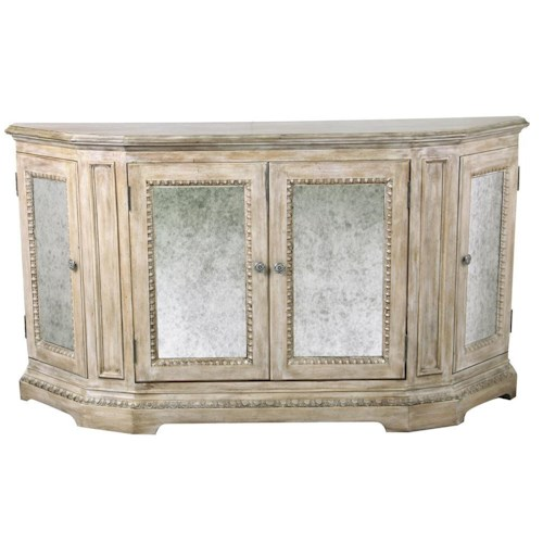 Pulaski Furniture Accents Traditional Credenza w/ Mirrored Doors