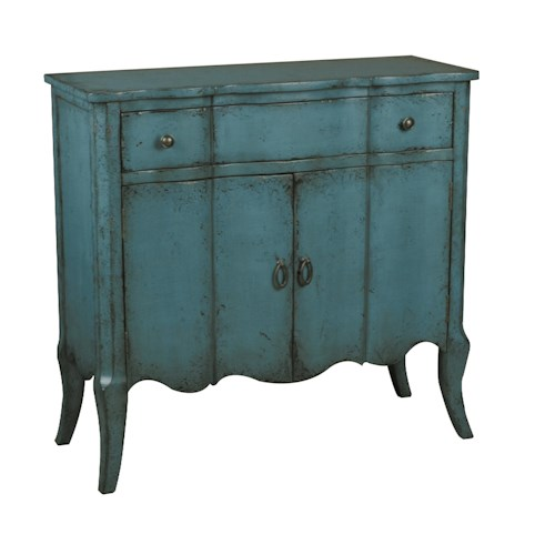 Pulaski Furniture Accents Distressed Turquoise Accent Chest w/ Doors