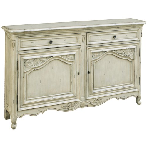 Pulaski Furniture Accents 2 Door Accent Cabinet with 2 Drawers