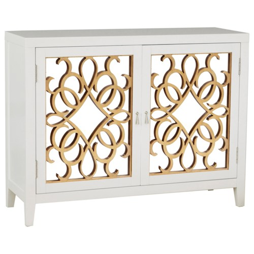 Pulaski Furniture Accents Wine Storage Console with Mirrored Doors