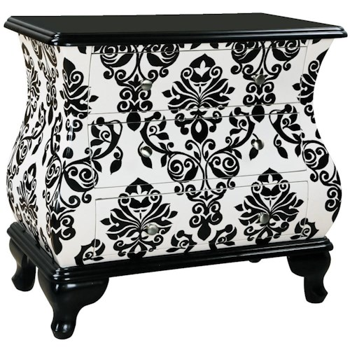Pulaski Furniture Accents Accent Bombe Chest with 3 Drawers