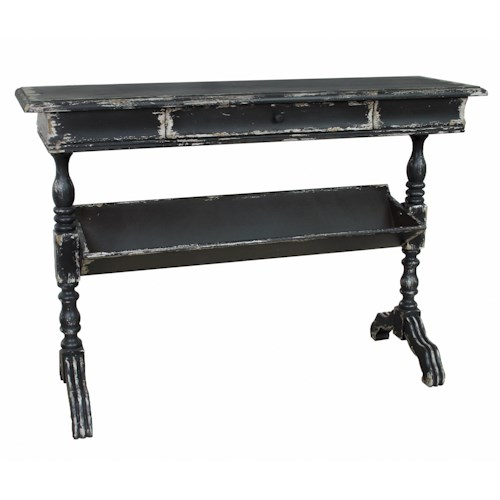 Pulaski Furniture Accents Antiqued Console Table w/ Turned Legs