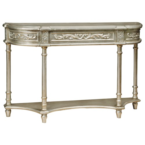 Pulaski Furniture Accents Silver Carved Overlay Console Table