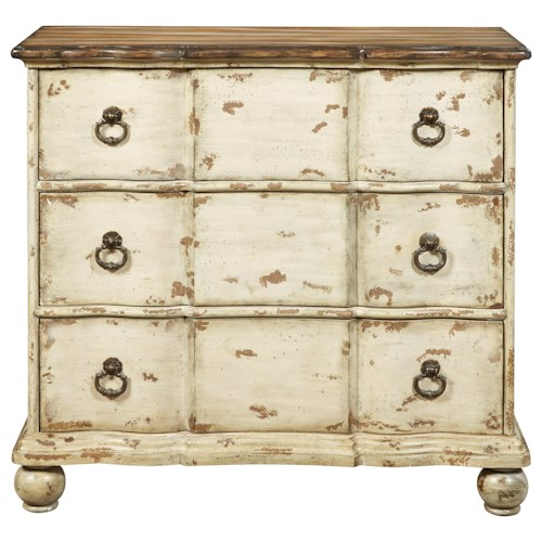 Pulaski Furniture Accents Santiago Blanco Accent Chest with 3 Drawers