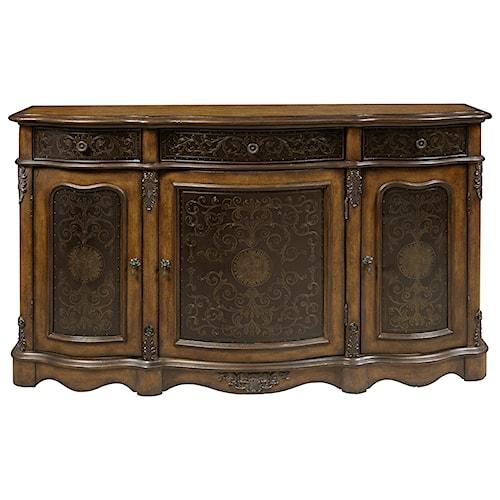 Pulaski Furniture Accents Traditional 3 Door Accent Credenza