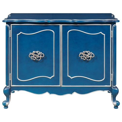 Pulaski Furniture Accents 2 Door Bar Cabinet with Cabriole Legs