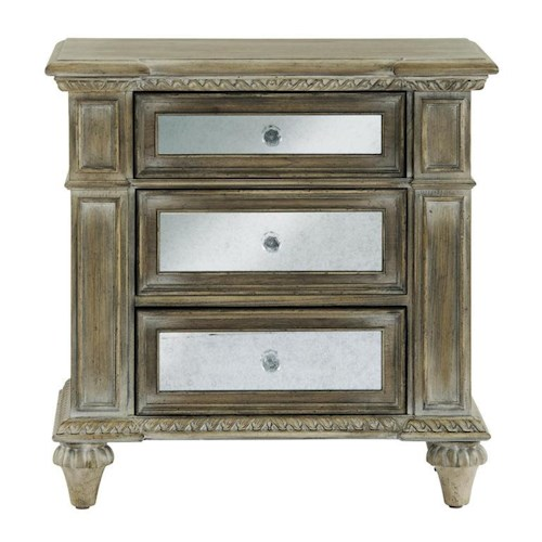 Pulaski Furniture Arabella 3 Drawer Mirrored Nightstand