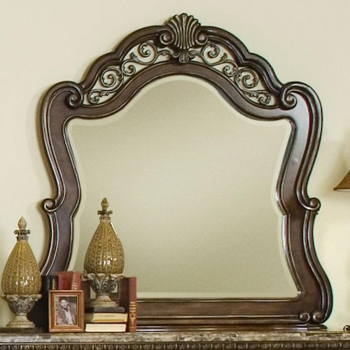 Pulaski Furniture Birkhaven Mirror with Ornamental Frame