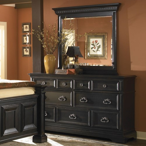 Pulaski Furniture Brookfield Transitional Bedroom Dresser with Mirror
