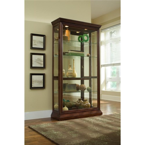 Pulaski Furniture Curios Eden House Two Way Sliding Door Curio