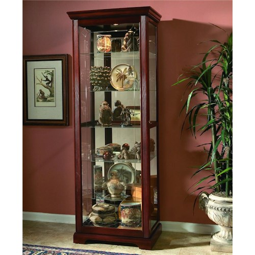 Pulaski Furniture Curios Two-Way Sliding Door Curio