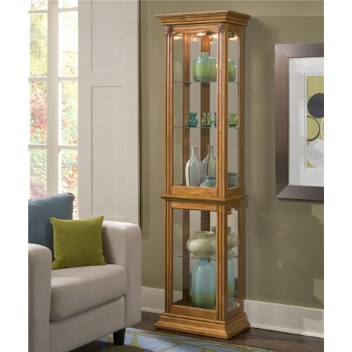 Pulaski Furniture Curios Estate Oak Curio Cabinet