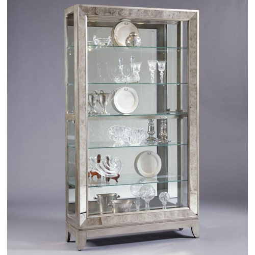 Pulaski Furniture Curios Platinum Side Entry Curio Cabinet