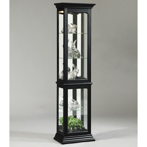 Pulaski Furniture Curios Oxford Black Curio Cabinet