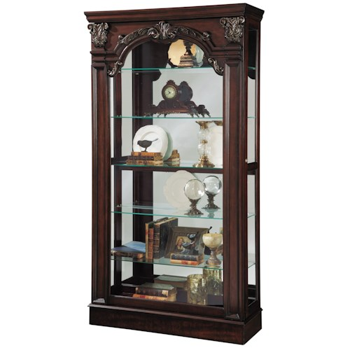 Pulaski Furniture Curios Traditional Style Sliding Front Curio Cabinet