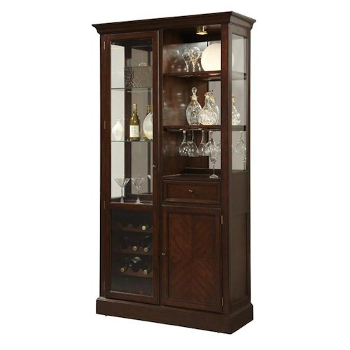 Pulaski Furniture Curios Curio Wine Cabinet w/ LED Lighting