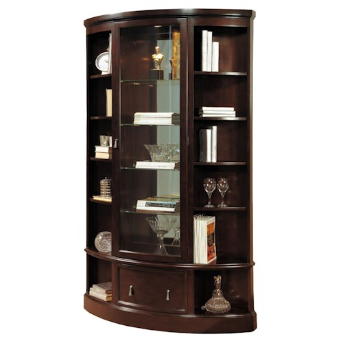Pulaski Furniture Curios Curved Bookcase Curio