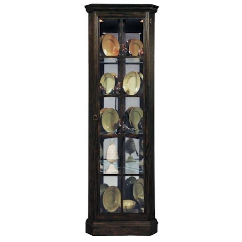 Pulaski Furniture Curios Corner Curio w/ Beveled Glass Door