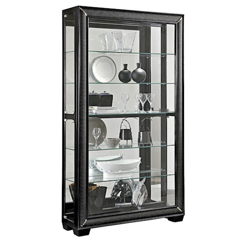 Pulaski Furniture Curios Wide Curio Cabinet w/ Glass Shelves