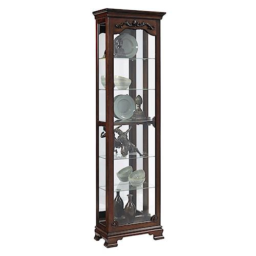 Pulaski Furniture Curios Traditional Narrow Curio Cabinet