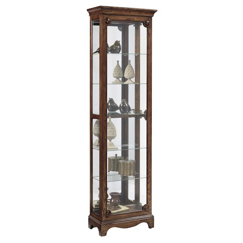 Pulaski Furniture Curios Traditional Narrow Curio Cabinet