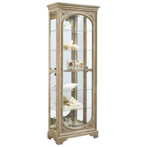 Pulaski Furniture Curios Side Entry Julian Curio with 5 Adjustable Glass Shelves