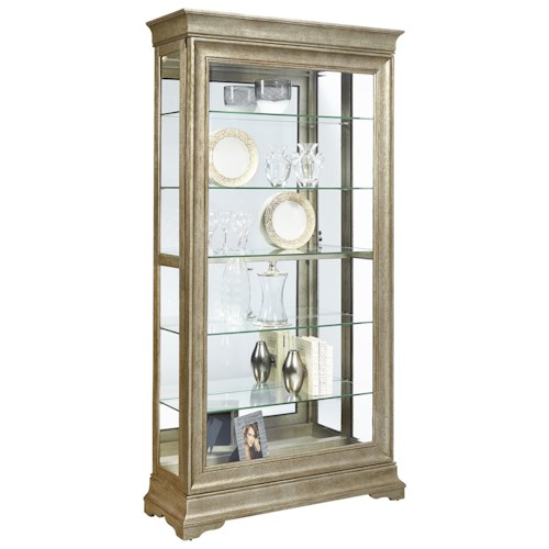 Pulaski Furniture Curios Lyon Curio with Louis Philippe Style Moldings