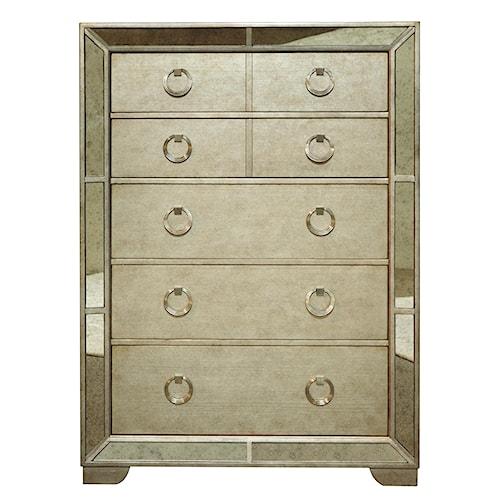 Pulaski Furniture Farrah 5 Drawer Chest w/ Mirror Panels