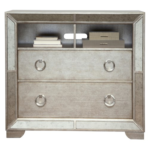 Pulaski Furniture Farrah Media Chest w/ Open Shelving & Drawers
