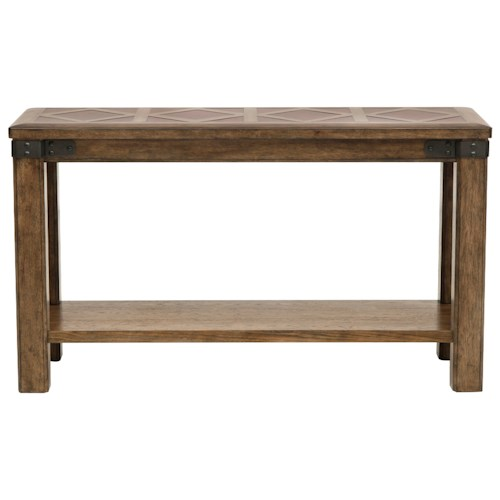 Pulaski Furniture Heartland Falls Sofa Table with Stationary Bottom Shelf
