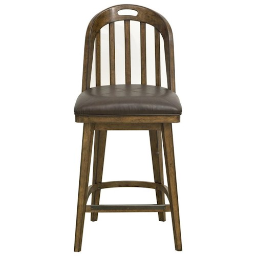 Pulaski Furniture Heartland Falls Bar Stool with Windsor Style Back