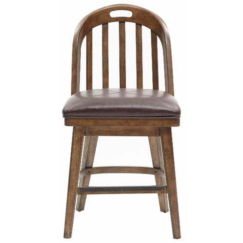 Pulaski Furniture Heartland Falls Windsor Gathering Chair with Metal Foot Rest