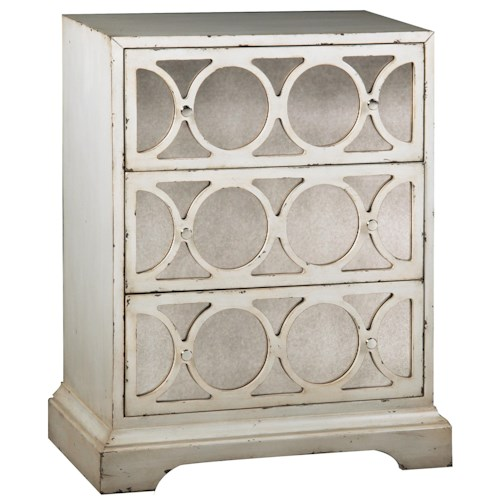 Pulaski Furniture Accents Dakota Accent Chest with Antiqued Mirrored Fronts
