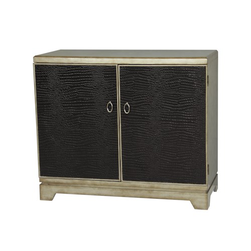 Pulaski Furniture Accents Contemporary Credenza w/ Faux Animal Skin