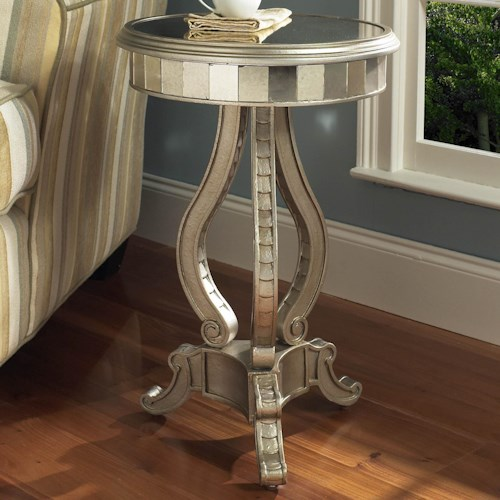 Pulaski Furniture Accents Mirrored Pedestal Table