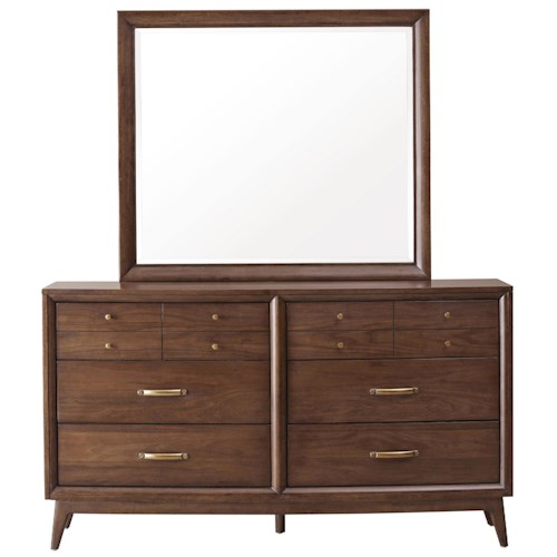 Pulaski Furniture Modern Harmony 6 Drawer Dresser & Mirror Set