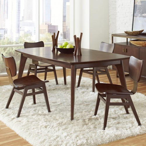 Pulaski Furniture Modern Harmony 5 Pc Dining Table Set w/ Wood Chairs
