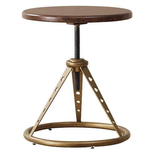Pulaski Furniture Modern Harmony Accent Table / Stool with Metal Base