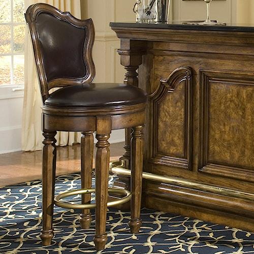 Pulaski Furniture San Mateo Bar Stool with Upholstered Seat