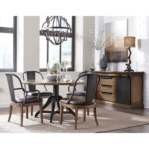 Pulaski furniture weston loft casual dining room group northeast factory direct casual - Dining rooms direct ...